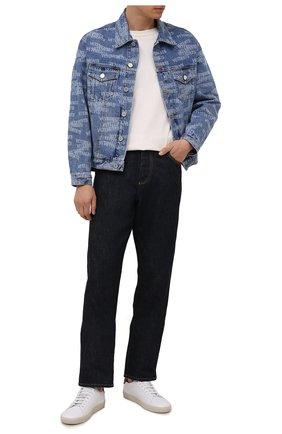Мужская джинсовая куртка VETEMENTS синего цвета, арт. UA52JA250B 2803/M | Фото 2