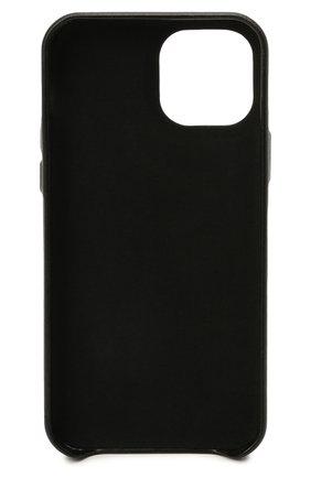 Кожаный чехол для iphone 12 pro VETEMENTS черного цвета, арт. UA52SA520W 2409/W/BLACK/WHITE 12 PR0   Фото 2 (Женское Кросс-КТ: Кожа iPhone)