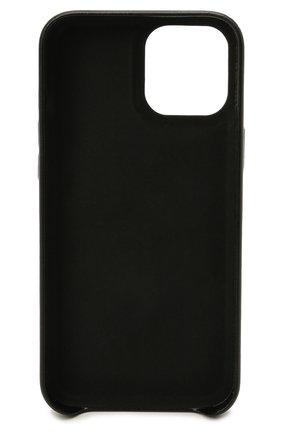 Кожаный чехол для iphone 12 pro max VETEMENTS черного цвета, арт. UA52SA500W 2409/W/BLACK/WHITE 12 PR0 MAX | Фото 2 (Женское Кросс-КТ: Кожа iPhone)