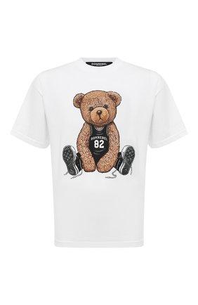 Мужская хлопковая футболка  DOMREBEL белого цвета, арт. MPLAY/B0X T | Фото 1 (Длина (для топов): Стандартные; Рукава: Короткие; Материал внешний: Хлопок; Принт: С принтом; Стили: Гранж)