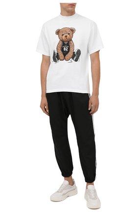 Мужская хлопковая футболка  DOMREBEL белого цвета, арт. MPLAY/B0X T | Фото 2 (Длина (для топов): Стандартные; Рукава: Короткие; Материал внешний: Хлопок; Принт: С принтом; Стили: Гранж)
