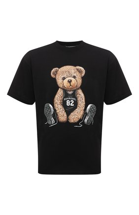 Мужская хлопковая футболка  DOMREBEL черного цвета, арт. MPLAY/B0X T | Фото 1
