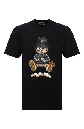 Мужская хлопковая футболка DOMREBEL черного цвета, арт. MNY BEAR/B0X T | Фото 1
