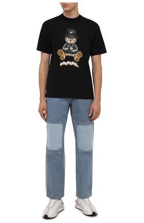 Мужская хлопковая футболка DOMREBEL черного цвета, арт. MNY BEAR/B0X T | Фото 2