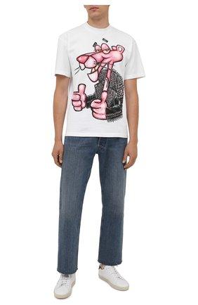 Мужская хлопковая футболка  DOMREBEL белого цвета, арт. MMIN0U/B0X T | Фото 2 (Рукава: Короткие; Материал внешний: Хлопок; Длина (для топов): Стандартные; Принт: С принтом; Стили: Гранж)