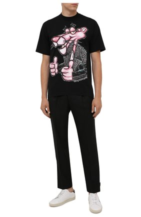 Мужская хлопковая футболка  DOMREBEL черного цвета, арт. MMIN0U/B0X T | Фото 2