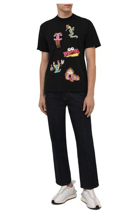 Мужская хлопковая футболка  DOMREBEL черного цвета, арт. MLUXURY/B0X T | Фото 2