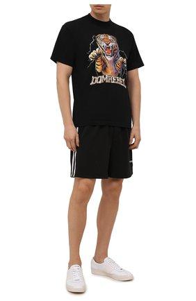 Мужские шорты DOMREBEL черного цвета, арт. MBASKETBA/SH0RT | Фото 2