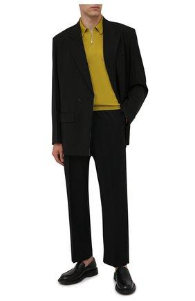 Мужское шерстяное поло GRAN SASSO горчичного цвета, арт. 55125/14290 | Фото 2