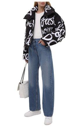 Женская пуховая куртка DOLCE & GABBANA черно-белого цвета, арт. F9K65T/G7A5Q   Фото 2