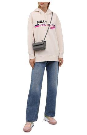 Женские текстильные кроссовки loop STELLA MCCARTNEY розового цвета, арт. 800387/N0249 | Фото 2 (Материал внешний: Текстиль; Подошва: Платформа; Материал внутренний: Текстиль)