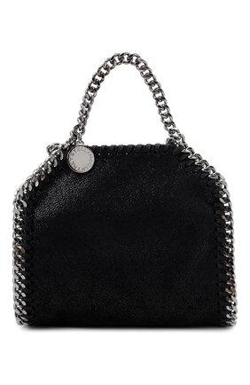 Женская сумка falabella STELLA MCCARTNEY черного цвета, арт. 700227/W9132 | Фото 1 (Размер: mini; Материал: Текстиль; Сумки-технические: Сумки top-handle; Ремень/цепочка: С цепочкой)