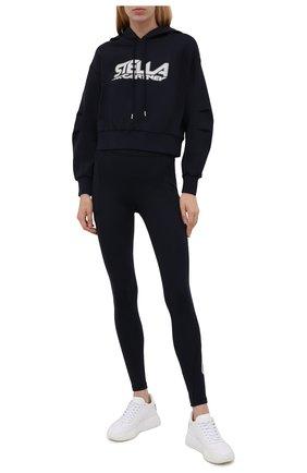 Женский худи STELLA MCCARTNEY темно-синего цвета, арт. 603682/SPW05 | Фото 2 (Рукава: Длинные; Материал внешний: Синтетический материал; Длина (для топов): Стандартные; Стили: Спорт-шик; Женское Кросс-КТ: Худи-одежда, Худи-спорт)