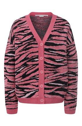 Женский кардиган STELLA MCCARTNEY розового цвета, арт. 603674/S2261 | Фото 1 (Материал внешний: Синтетический материал, Шерсть; Длина (для топов): Стандартные; Рукава: Длинные; Стили: Гламурный; Кросс-КТ: Трикотаж; Женское Кросс-КТ: кардиган-трикотаж)