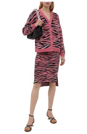 Женский кардиган STELLA MCCARTNEY розового цвета, арт. 603674/S2261 | Фото 2 (Материал внешний: Синтетический материал, Шерсть; Длина (для топов): Стандартные; Рукава: Длинные; Стили: Гламурный; Кросс-КТ: Трикотаж; Женское Кросс-КТ: кардиган-трикотаж)