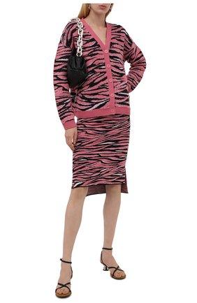 Женская юбка из вискозы и шерсти STELLA MCCARTNEY розового цвета, арт. 603673/S2260 | Фото 2 (Материал внешний: Вискоза, Шерсть; Стили: Гламурный; Кросс-КТ: Трикотаж; Женское Кросс-КТ: Юбка-одежда; Длина Ж (юбки, платья, шорты): До колена)