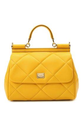 Женская сумка sicily medium DOLCE & GABBANA желтого цвета, арт. BB6002/AW591   Фото 1