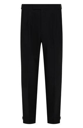 Мужские шерстяные брюки ERMENEGILDO ZEGNA черного цвета, арт. UYI09/TP22 | Фото 1