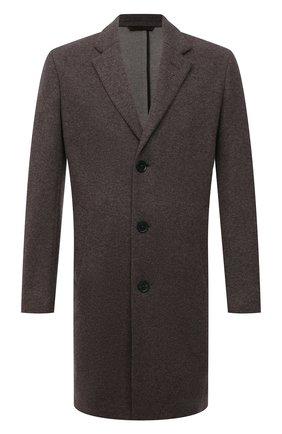 Мужской кашемировое пальто ERMENEGILDO ZEGNA коричневого цвета, арт. 277014/4DB5S0 | Фото 1 (Материал внешний: Шерсть, Кашемир; Стили: Классический; Рукава: Длинные; Длина (верхняя одежда): До середины бедра; Мужское Кросс-КТ: пальто-верхняя одежда)