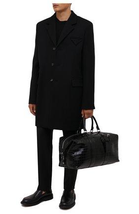 Мужская дорожная сумка из кожи крокодила RALPH LAUREN черного цвета, арт. 437854334/CP0R   Фото 2