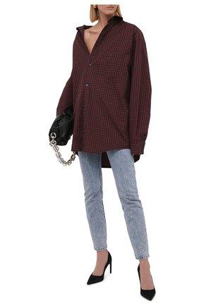 Женская хлопковая рубашка BALENCIAGA темно-бордового цвета, арт. 662977/TKM36 | Фото 2