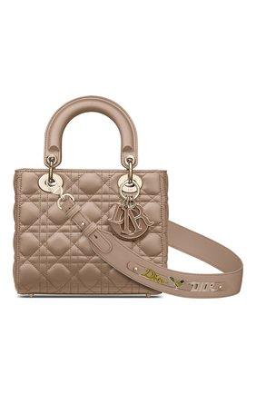 Женская сумка lady dior my abcdior DIOR бежевого цвета, арт. M0538OCEAM45M   Фото 1 (Материал: Натуральная кожа; Размер: small; Ремень/цепочка: На ремешке; Сумки-технические: Сумки top-handle; Женское Кросс-КТ: Вечерняя сумка)