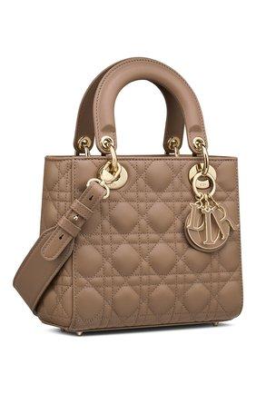 Женская сумка lady dior my abcdior DIOR бежевого цвета, арт. M0538OCEAM45M   Фото 2 (Материал: Натуральная кожа; Размер: small; Ремень/цепочка: На ремешке; Сумки-технические: Сумки top-handle; Женское Кросс-КТ: Вечерняя сумка)