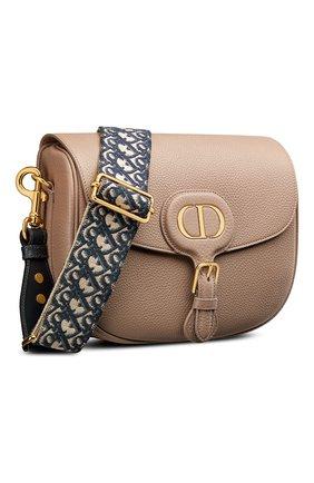 Женская сумка dior bobby large DIOR бежевого цвета, арт. M9320UBBYM747   Фото 2 (Материал: Натуральная кожа; Размер: large; Ремень/цепочка: На ремешке; Сумки-технические: Сумки через плечо)