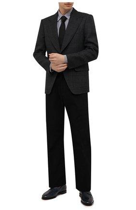 Мужской шерстяной пиджак TOM FORD серого цвета, арт. 256R45/1IME40 | Фото 2 (Рукава: Длинные; Материал подклада: Купро, Шелк; Длина (для топов): Стандартные; Материал внешний: Шерсть; Пиджаки М: Прямой; Случай: Формальный; 1-2-бортные: Однобортные; Стили: Кэжуэл)