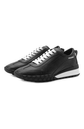 Мужские кожаные кроссовки legend DSQUARED2 черного цвета, арт. SNM0196 01500001 | Фото 1