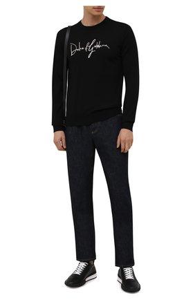 Мужские кожаные кроссовки legend DSQUARED2 черного цвета, арт. SNM0196 01500001 | Фото 2