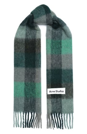 Мужской шарф ACNE STUDIOS зеленого цвета, арт. CA0084/M | Фото 1