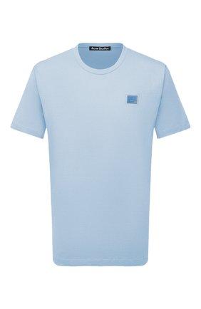 Мужская хлопковая футболка ACNE STUDIOS голубого цвета, арт. 25E173/M | Фото 1