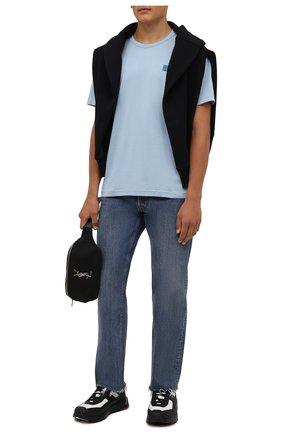 Мужская хлопковая футболка ACNE STUDIOS голубого цвета, арт. 25E173/M | Фото 2