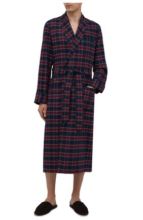 Мужской хлопковый халат DEREK ROSE разноцветного цвета, арт. 5505-KELB020 | Фото 2