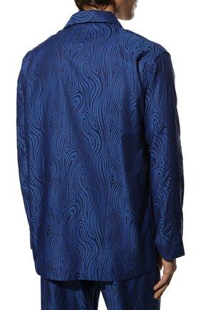 Мужская хлопковая пижама DEREK ROSE темно-синего цвета, арт. 5000-PARI020   Фото 4 (Рукава: Длинные; Длина (брюки, джинсы): Стандартные; Кросс-КТ: домашняя одежда; Длина (для топов): Стандартные; Материал внешний: Хлопок)