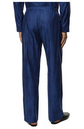 Мужская хлопковая пижама DEREK ROSE темно-синего цвета, арт. 5000-PARI020   Фото 6 (Рукава: Длинные; Длина (брюки, джинсы): Стандартные; Кросс-КТ: домашняя одежда; Длина (для топов): Стандартные; Материал внешний: Хлопок)