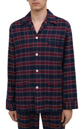 Мужская хлопковая пижама DEREK ROSE разноцветного цвета, арт. 5000-KELB020 | Фото 2