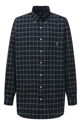 Мужская хлопковая рубашка POLO RALPH LAUREN синего цвета, арт. 711811288/4902/PRL BS | Фото 1