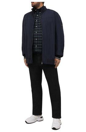 Мужская хлопковая рубашка POLO RALPH LAUREN синего цвета, арт. 711811288/4902/PRL BS | Фото 2