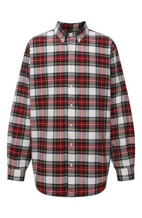 Мужская хлопковая рубашка POLO RALPH LAUREN красного цвета, арт. 711811288/4903/PRL BS | Фото 1