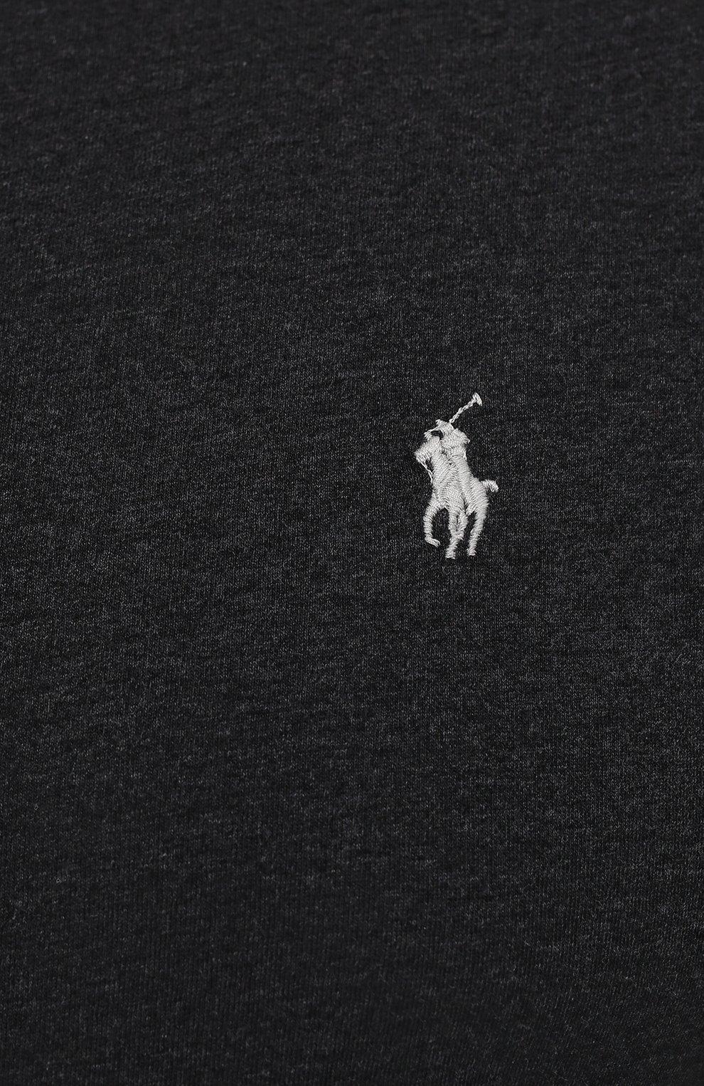 Мужская хлопковый лонгслив POLO RALPH LAUREN темно-серого цвета, арт. 711671467/PRL BS | Фото 5 (Big sizes: Big Sizes; Рукава: Длинные; Принт: Без принта; Длина (для топов): Удлиненные; Материал внешний: Хлопок; Стили: Кэжуэл)