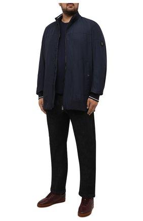 Мужская хлопковый лонгслив POLO RALPH LAUREN темно-синего цвета, арт. 711671467/PRL BS | Фото 2