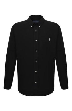 Мужская хлопковая рубашка POLO RALPH LAUREN черного цвета, арт. 711654408/PRL BS | Фото 1