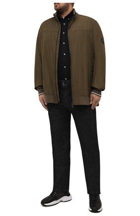 Мужская хлопковая рубашка POLO RALPH LAUREN черного цвета, арт. 711654408/PRL BS | Фото 2