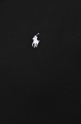 Мужская хлопковая рубашка POLO RALPH LAUREN черного цвета, арт. 711654408/PRL BS   Фото 5 (Манжеты: На пуговицах; Воротник: Button down; Рукава: Длинные; Случай: Повседневный; Длина (для топов): Стандартные; Материал внешний: Хлопок; Принт: Однотонные; Стили: Кэжуэл)