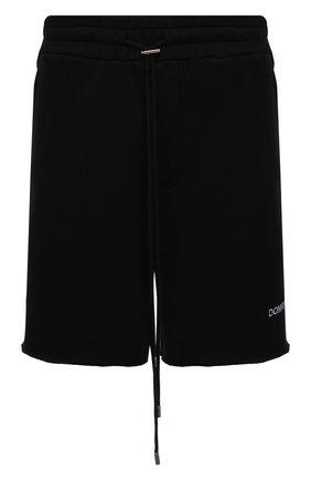 Мужские хлопковые шорты DOMREBEL черного цвета, арт. MSWEAT/SH0RT | Фото 1