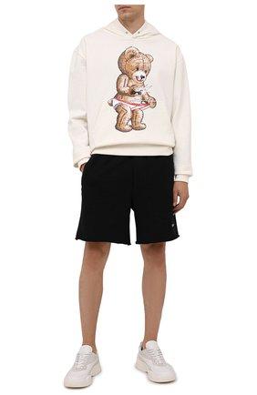 Мужские хлопковые шорты DOMREBEL черного цвета, арт. MSWEAT/SH0RT | Фото 2