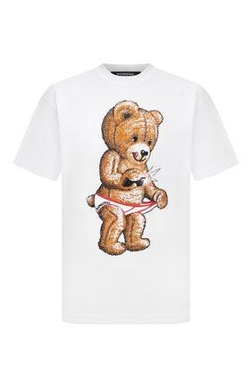 Мужская хлопковая футболка DOMREBEL белого цвета, арт. MSNAP/B0X T | Фото 1 (Материал внешний: Хлопок; Принт: С принтом; Рукава: Короткие; Стили: Гранж; Длина (для топов): Стандартные)