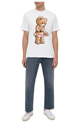 Мужская хлопковая футболка DOMREBEL белого цвета, арт. MSNAP/B0X T | Фото 2 (Материал внешний: Хлопок; Принт: С принтом; Рукава: Короткие; Стили: Гранж; Длина (для топов): Стандартные)